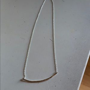 Stella Dot bar necklace ster silver delicate layer